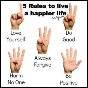 5 rules to happier life
