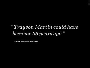 Obama-Trayvon Martin