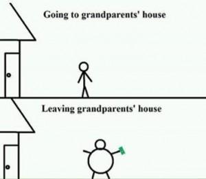 visiting grandparents