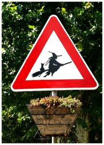 Halloween roadsign