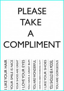 compliment hand out