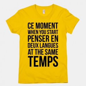 deux languages at the same temps