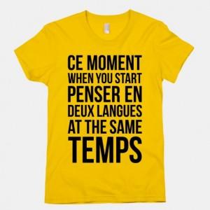deux languages at the same temps
