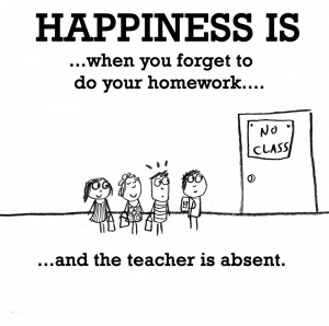 happiness teacher absent