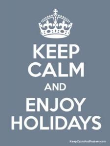 keep calm holidays