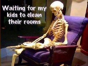 waiting kids tidy room
