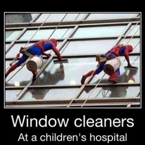 window cleaners hospital