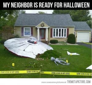 Halloween UFO scene crime
