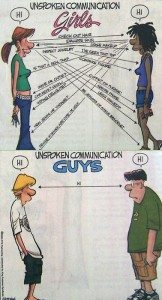 communication between girls between boys