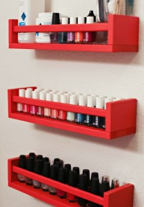 nail polish shelves