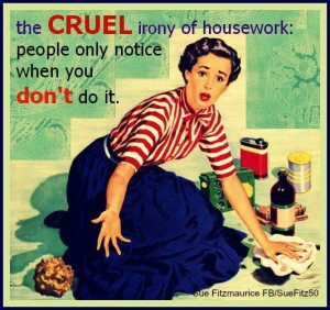 housework irony