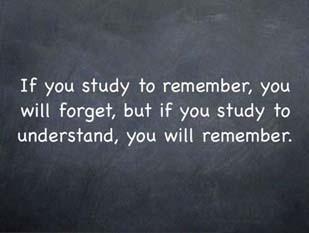 study to understand