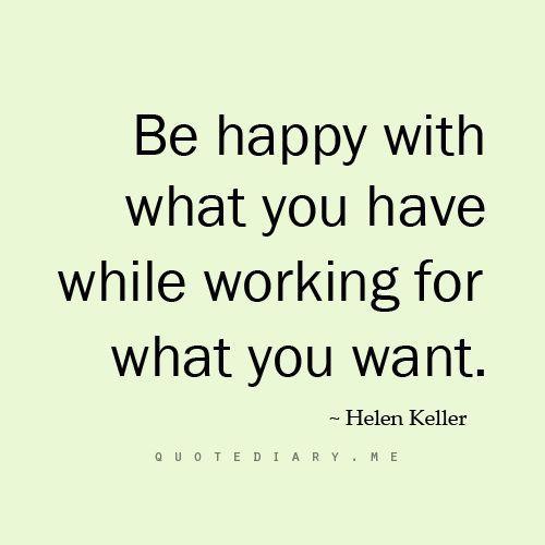 be happy Hellen Keller
