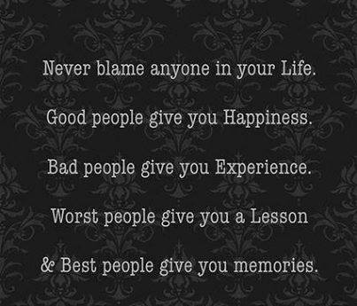do not blame people