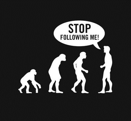 evolution - stop following me