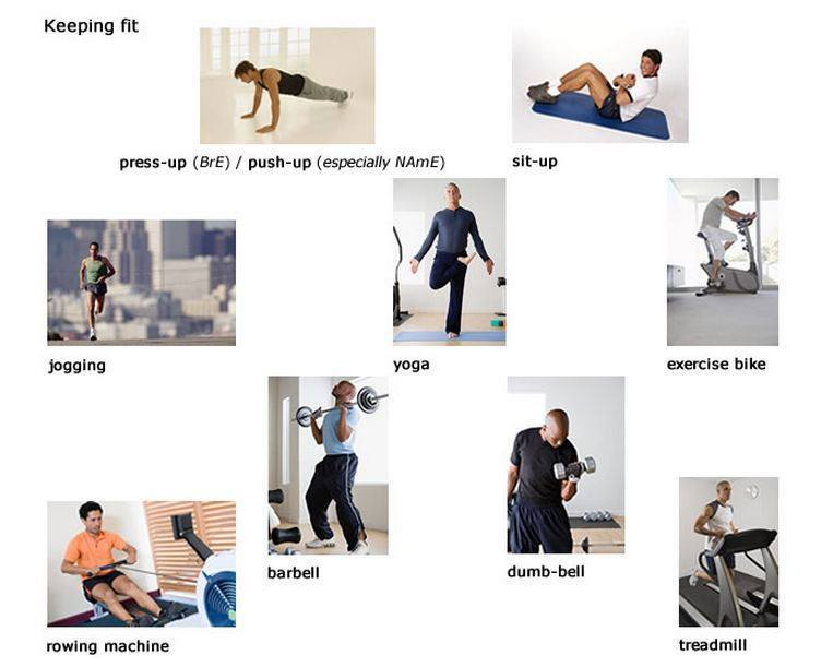 exercise words