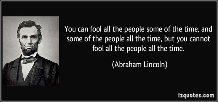 you can fool - Lincoln