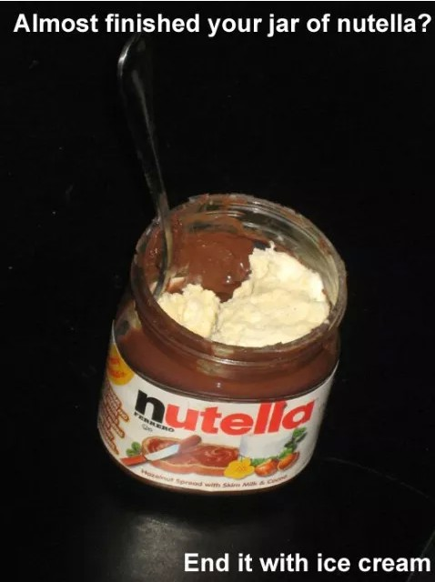 Nutella-icecream