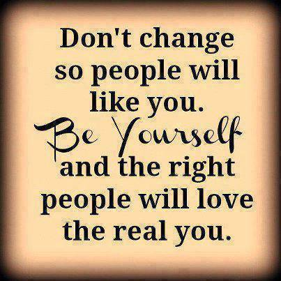 be yourself-real you