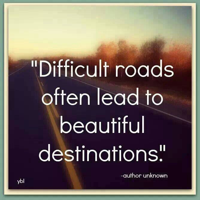 difficult road - destination