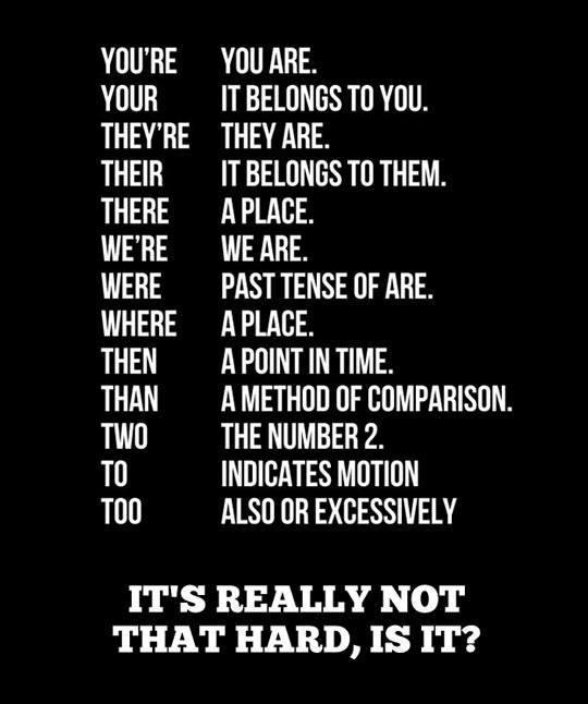 grammar mistakes NOT to make