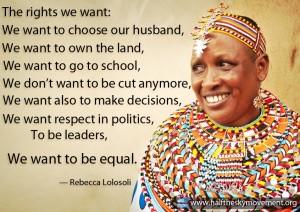 Women equal Lolosoli
