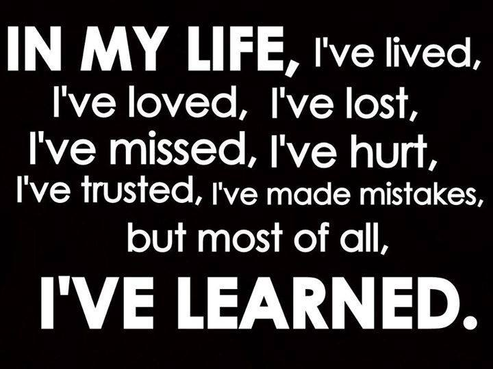 life learned