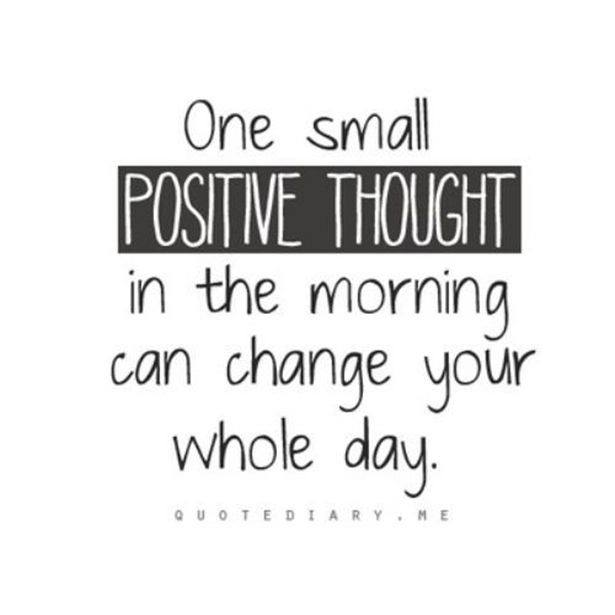 1 positive thought