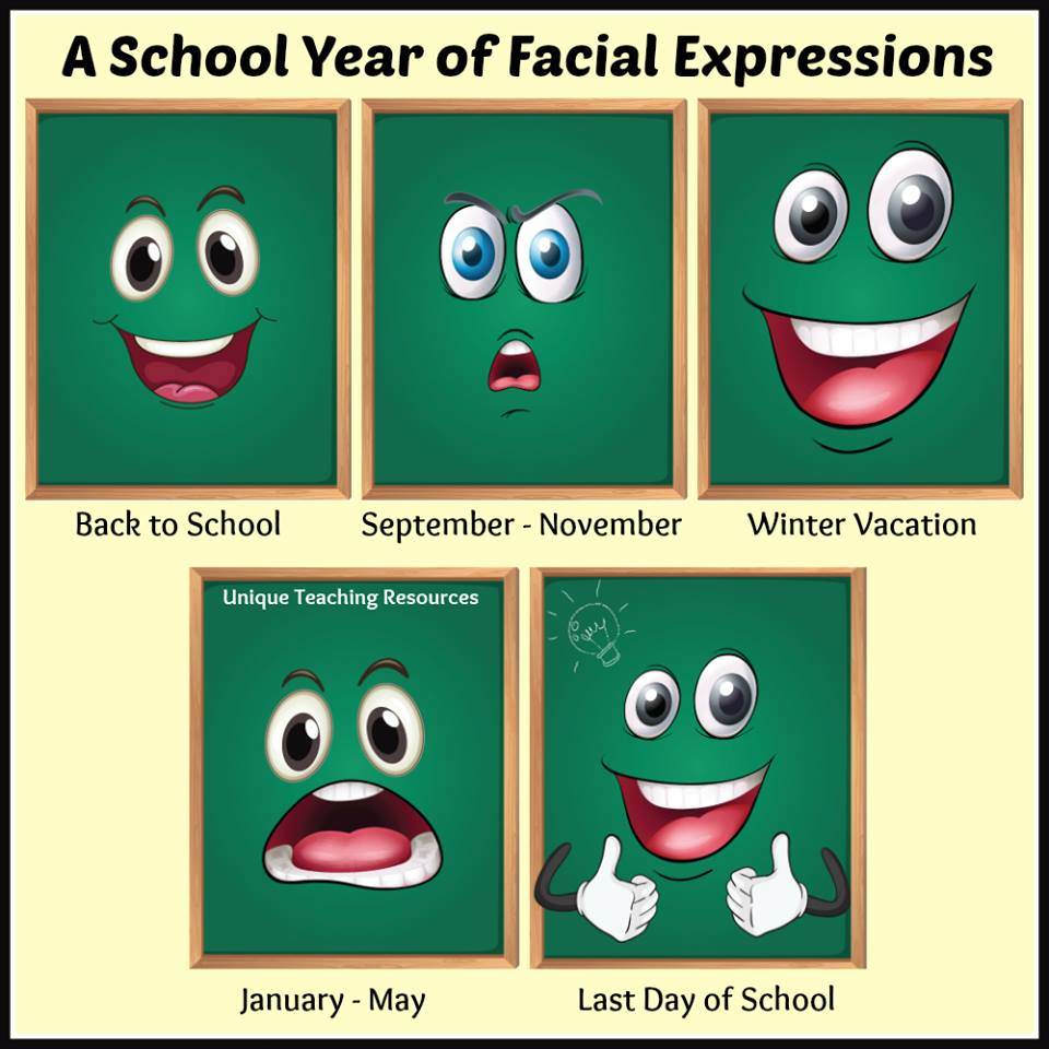 facial expressions school year