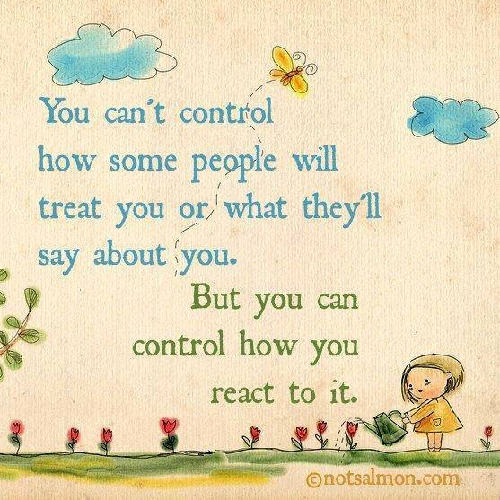 control how you react
