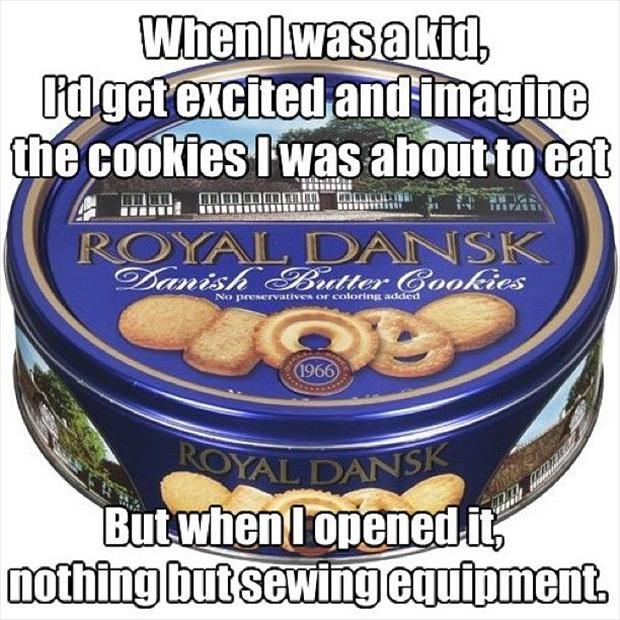 cookies - sewing
