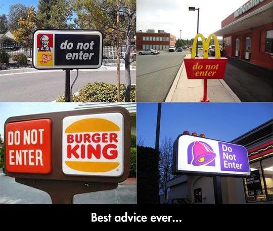 fastfood do not enter