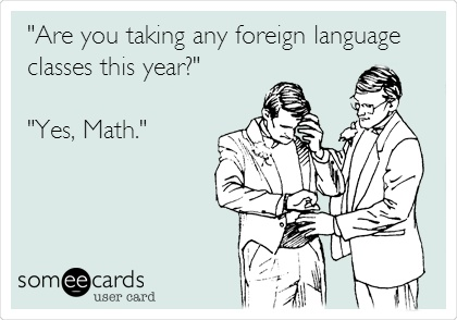 foreign language math