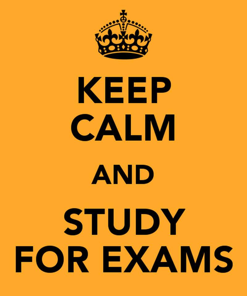 keep calm -study exams