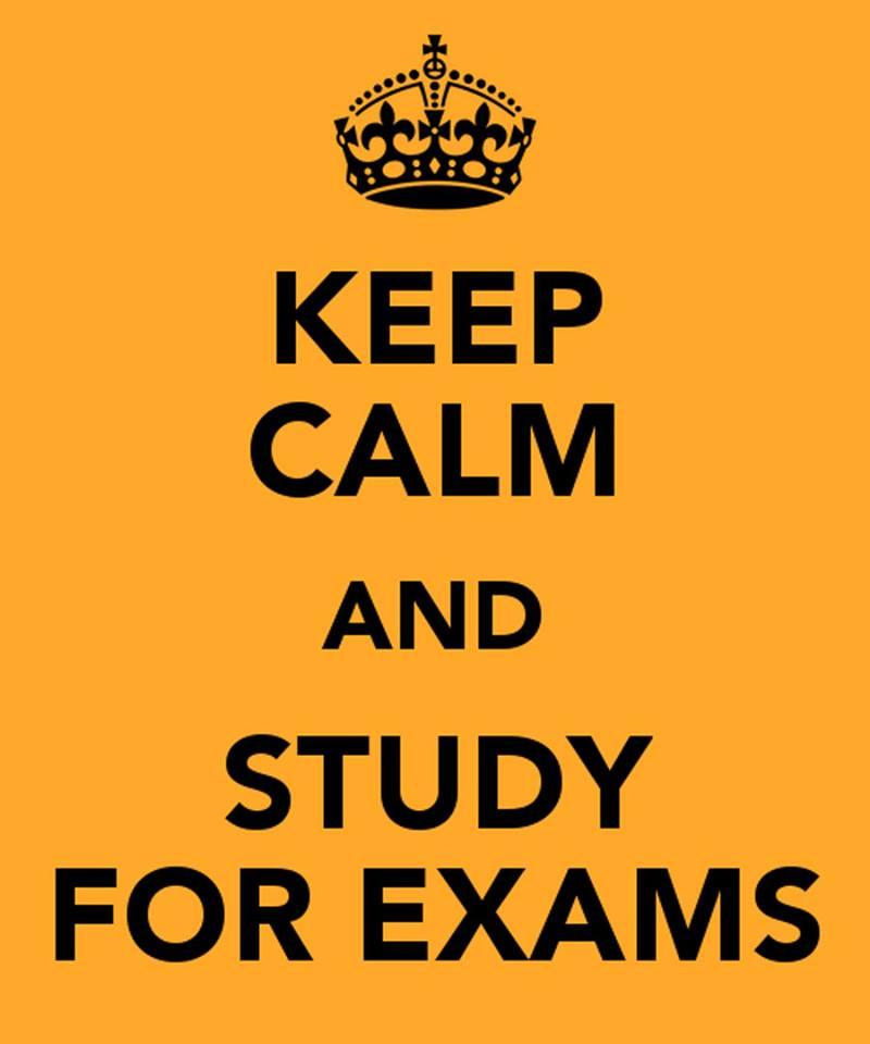 keep calm -study exams