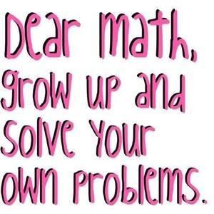 math - grow up