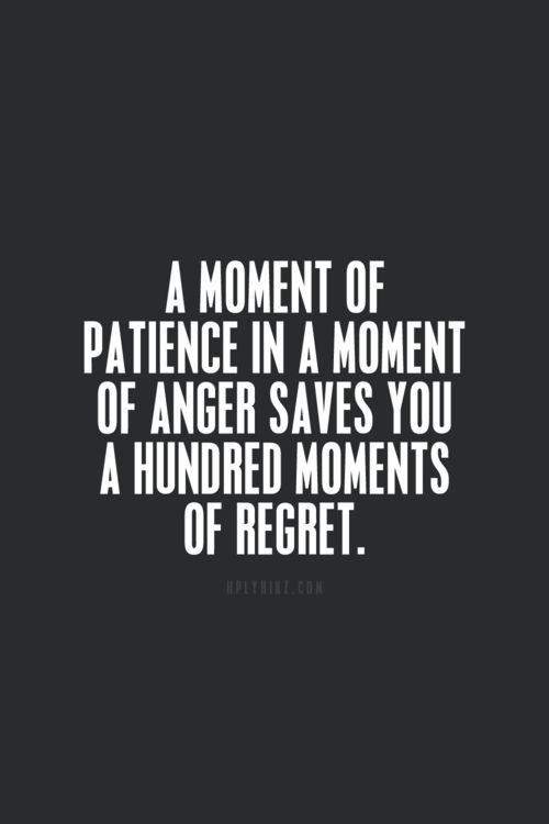 moment patience - moments regret