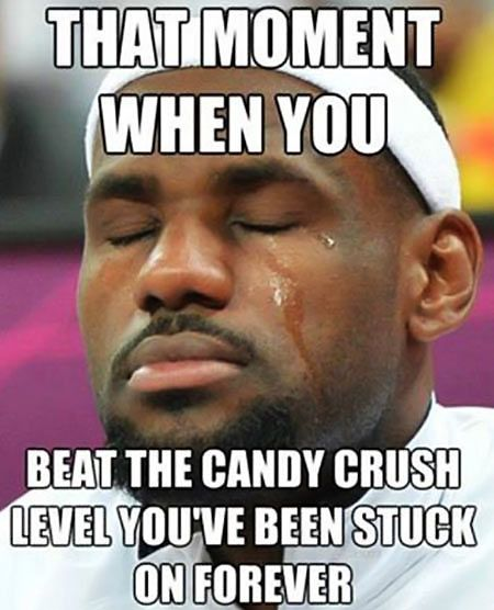 moment win Candy Crush level