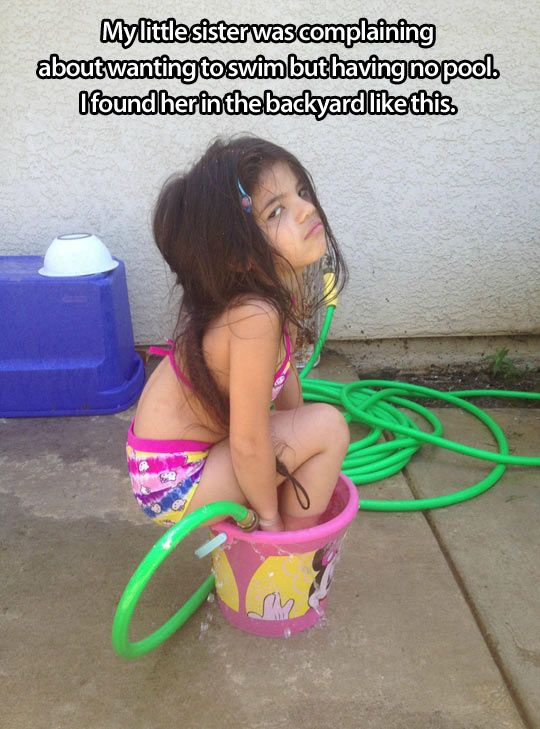 sister no pool