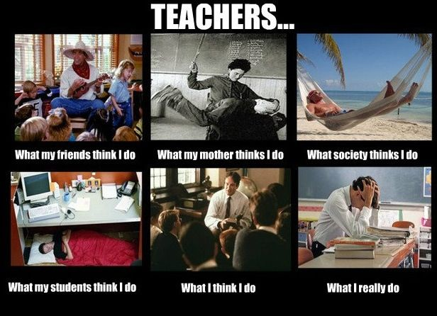 teachers - what they think I do