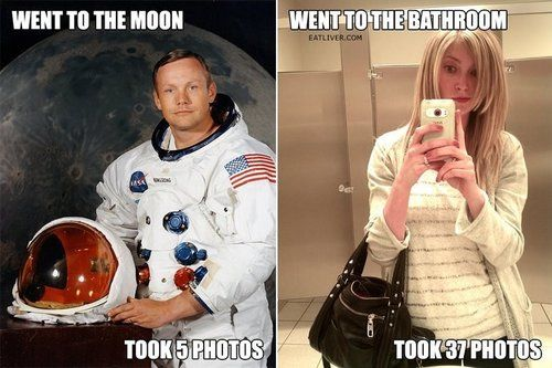 Armstrong photos - bathroom selfies