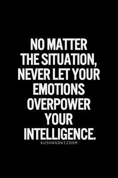 emotion overpower intelligence