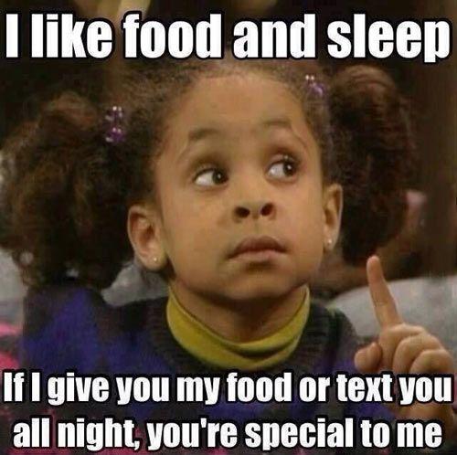 food and sleep