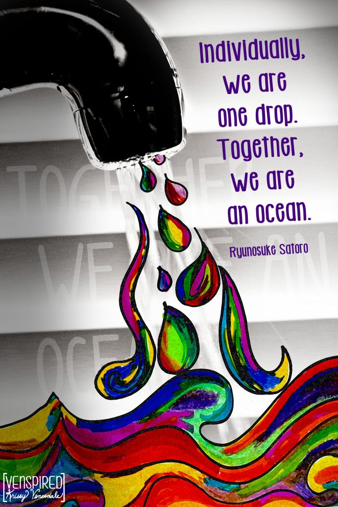 individual one drop - together ocean