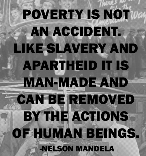 poverty - Mandela