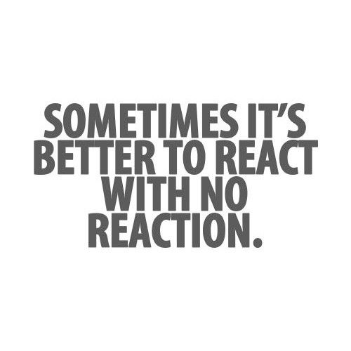 react-no reaction