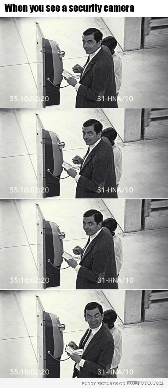 security camera - Mr Bean