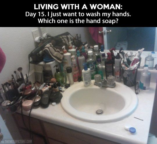woman toiletries