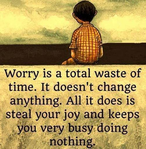 worry-waste of time