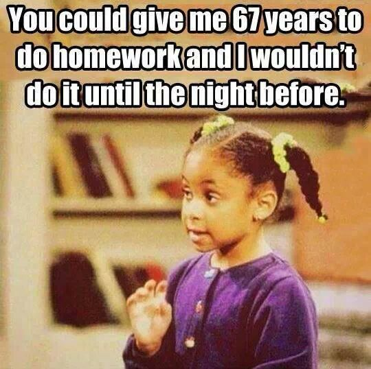 67 years to do homework